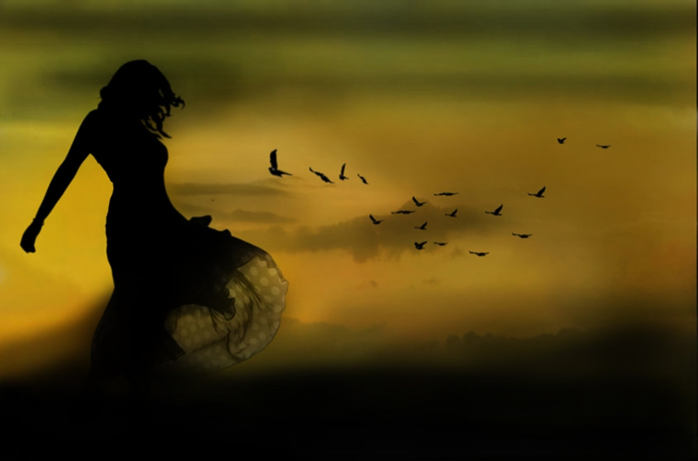Girl-Bird-Silhouette